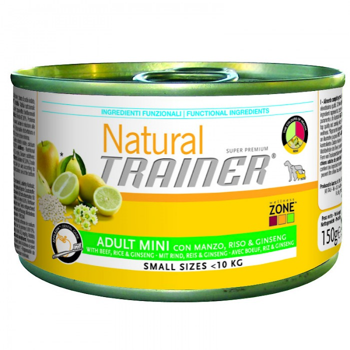 Natural Trainer ADULT MINI with Beef, Rice and Ginseng (150g)