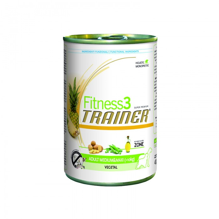 Fitness3 Trainer ADULT MEDIUM&MAXI (> 10 KG) VEGETAL (400g)